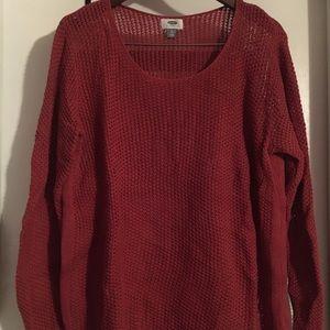 Brick Loose-knit Sweater